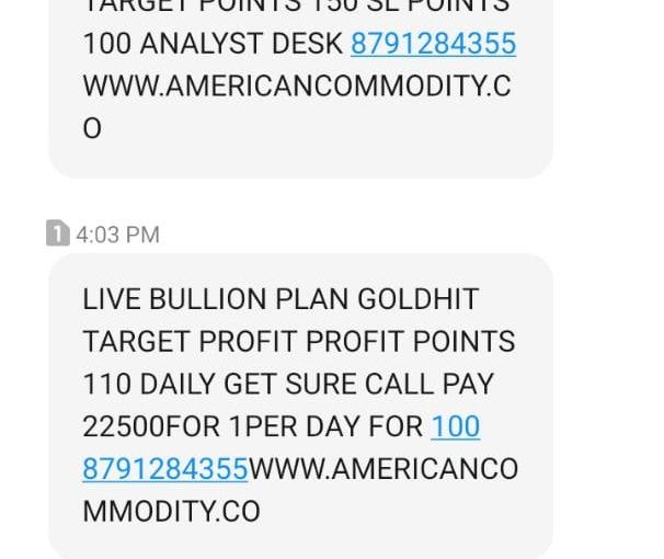 GOLD TARGET HIT UPDATED BY AMERICAN COMMODITY